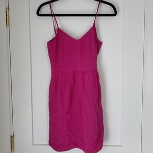 Madewell Silk Cami Dress - Magenta